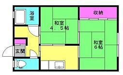 松和荘[7号室]の間取り