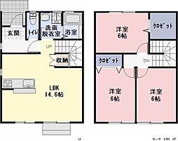 [一戸建] 愛知県一宮市あずら1丁目 の賃貸【/】の間取り