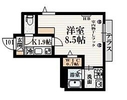 小田急小田原線 豪徳寺駅 徒歩4分の賃貸マンション 1階1Kの間取り