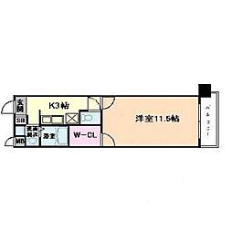 KAISEI北梅田[4階]の間取り
