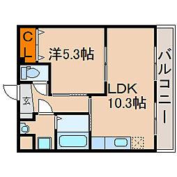 chou chou[1階]の間取り