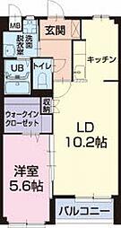 長野県塩尻市大門泉町の賃貸アパートの間取り