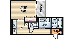 大阪府堺市西区浜寺石津町西4丁の賃貸アパートの間取り