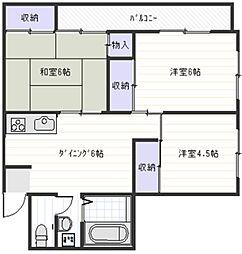 新明ハイム[3階]の間取り