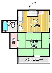 ハイム三鷹台[2階]の間取り