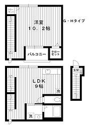 [テラスハウス] 東京都練馬区桜台4丁目 の賃貸【/】の間取り