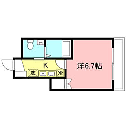JR山手線 渋谷駅 徒歩9分の賃貸マンション 1階1Kの間取り