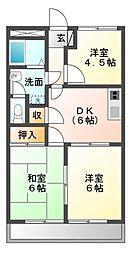 愛知県豊橋市石巻本町字市場の賃貸マンションの間取り