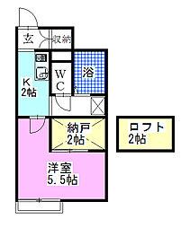 レオネクストKumagai[104号室]の間取り