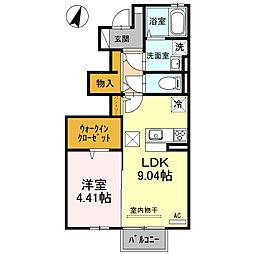 KD−I[1階]の間取り