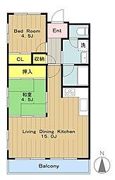 ドミ中屋[2階]の間取り