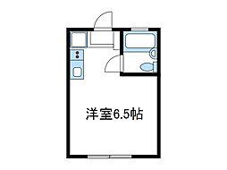 神奈川県海老名市国分北2丁目の賃貸アパートの間取り