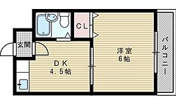 凱旋門ビル[3階]の間取り