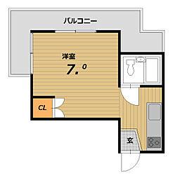 テラスローズマリー[3階]の間取り