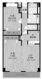 ラ・カーサ・デル・ポソ・ブランコ[3階]の間取り
