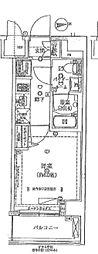 JR中央線 八王子駅 徒歩7分の賃貸マンション 3階1Kの間取り
