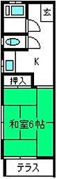 宮原荘[203号室]の間取り