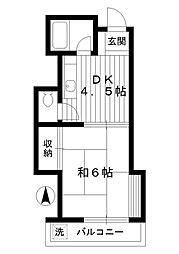 東京都練馬区桜台2丁目の賃貸アパートの間取り
