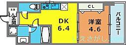 アルデール兵庫[2階]の間取り