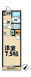 アマンヴィラ鎌倉[2-D号室]の間取り