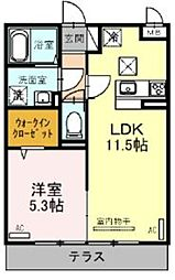JR京浜東北・根岸線 大宮駅 徒歩23分の賃貸アパート 2階1LDKの間取り