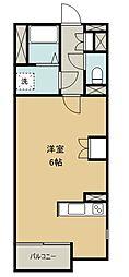 西武新宿線 南大塚駅 徒歩7分の賃貸アパート 2階ワンルームの間取り