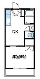 神奈川県厚木市林4丁目の賃貸アパートの間取り