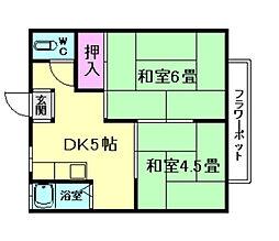大阪府豊中市庄内栄町4丁目の賃貸マンションの間取り