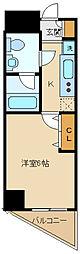西武多摩湖線 一橋学園駅 徒歩3分の賃貸マンション 5階1Kの間取り