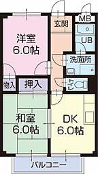 長野県塩尻市大字広丘吉田の賃貸アパートの間取り