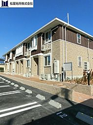 愛知県豊橋市牛川町字浪ノ上の賃貸アパートの外観