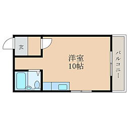 滋賀県高島市安曇川町田中の賃貸アパートの間取り