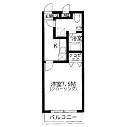 ハーモニーKハウス今宿駅前 B[304号室]の間取り