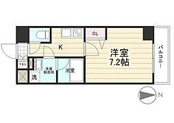京急大師線 川崎大師駅 徒歩2分の賃貸マンション 1階1Kの間取り