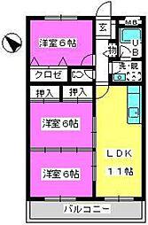 Cityハイツ山田[403号室]の間取り