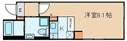 クラヴィール上野田原町 3階ワンルームの間取り