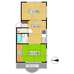 三洋マンション[3階]の間取り