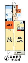 JR総武本線 稲毛駅 バス20分 京成団地入口下車 徒歩2分の賃貸アパート 1階1LDKの間取り