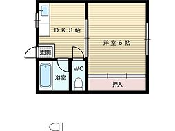 後藤文化[2階]の間取り