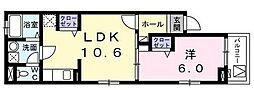ホームズ豊田 イースト 1階1LDKの間取り