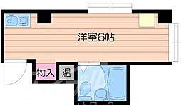 昭和グランドハイツ大宮 6階ワンルームの間取り