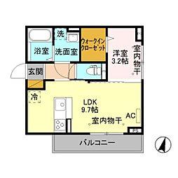 新潟県新潟市中央区東幸町の賃貸アパートの間取り