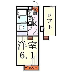 埼玉県川口市大字神戸の賃貸アパートの間取り