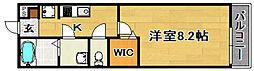 阪急千里線 下新庄駅 徒歩2分の賃貸マンション 1階1Kの間取り