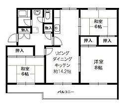 神奈川県横浜市磯子区洋光台5丁目の賃貸マンションの間取り