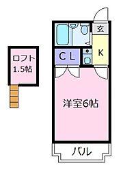 セジュール松原[3階]の間取り