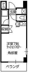 ティハール所沢[4階]の間取り