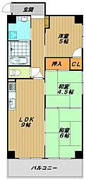 兵庫県神戸市長田区西尻池町2丁目の賃貸マンションの間取り