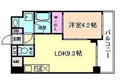 Osaka Metro谷町線 天神橋筋六丁目駅 徒歩3分の賃貸マンション 5階1LDKの間取り