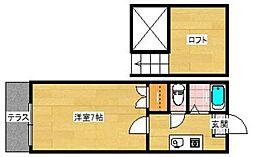 アクアコート姪浜[1階]の間取り